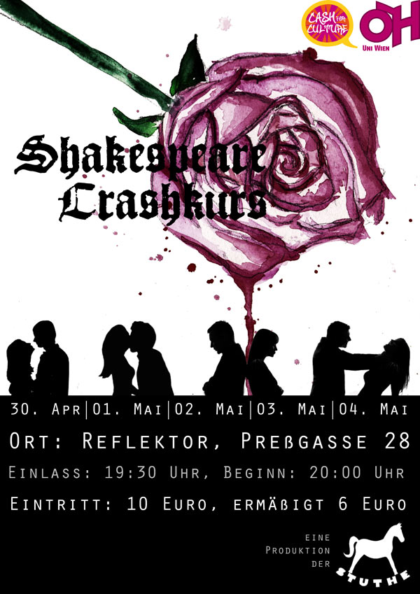 Shakespeare Crashkurs Flyer
